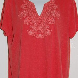 Lucky Brand apricot colored, cotton tee